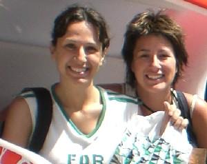 Emanuela (a sinistra) con la sua amica Fabiana. Entrambe delusissime dal Corte Inglés!