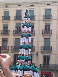 I tipici castellers, simboli della cultura catalana