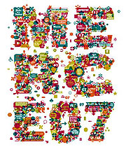 Il cartellone della Festa, opera dell'artista Enric Jardí