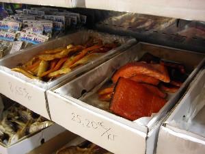 Il tipico pesce affumicato.